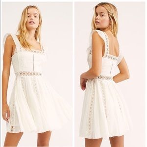 NEW Free People Verona lace insert dress